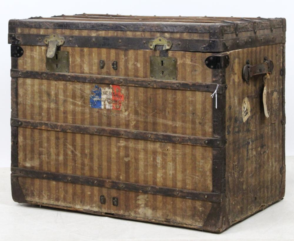 Early Louis Vuitton Striped Trunk