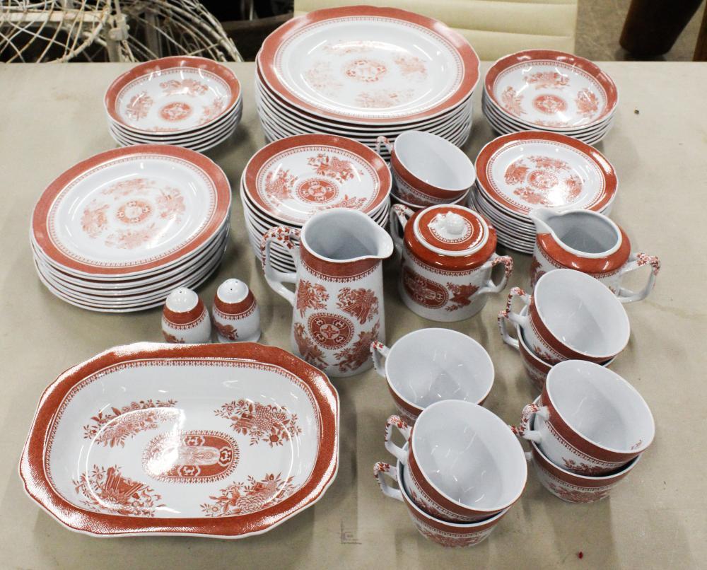 73 pcs. Spode Fitzhugh Red Porcelain Dinnerware
