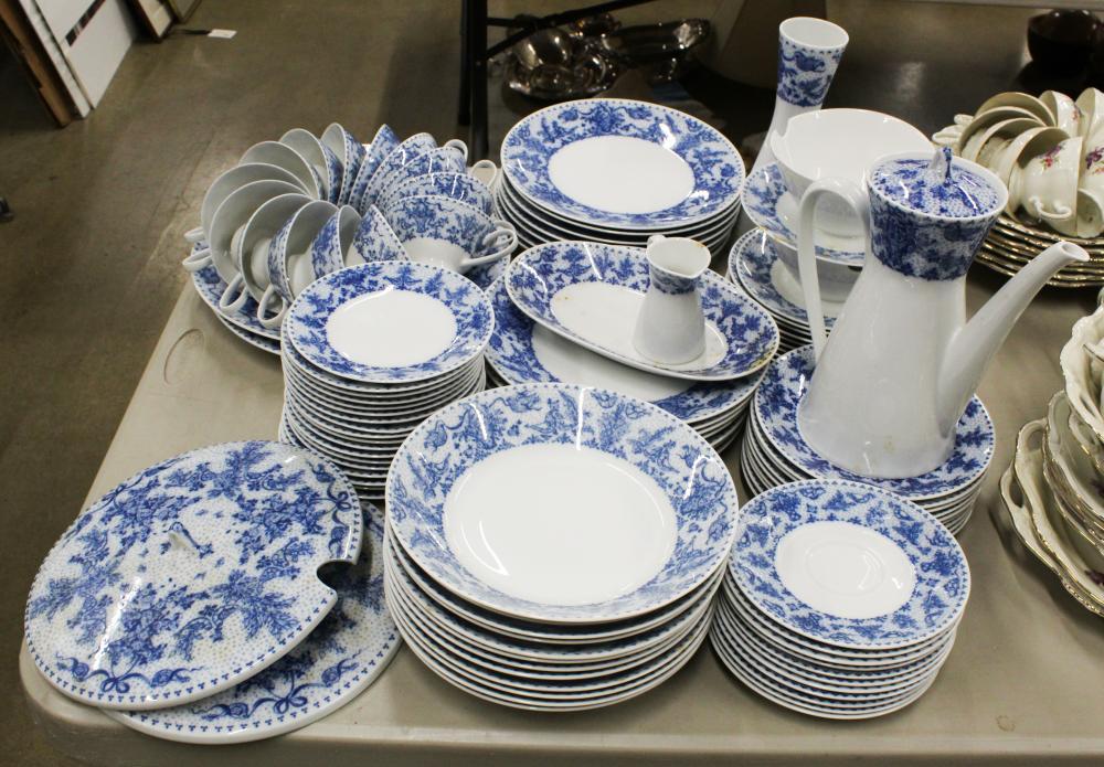 109 pcs. Rosenthal MCM Blue Porcelain Dinnerware