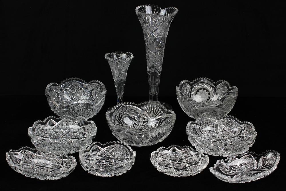 10 pcs. Brilliant Period Cut Glass