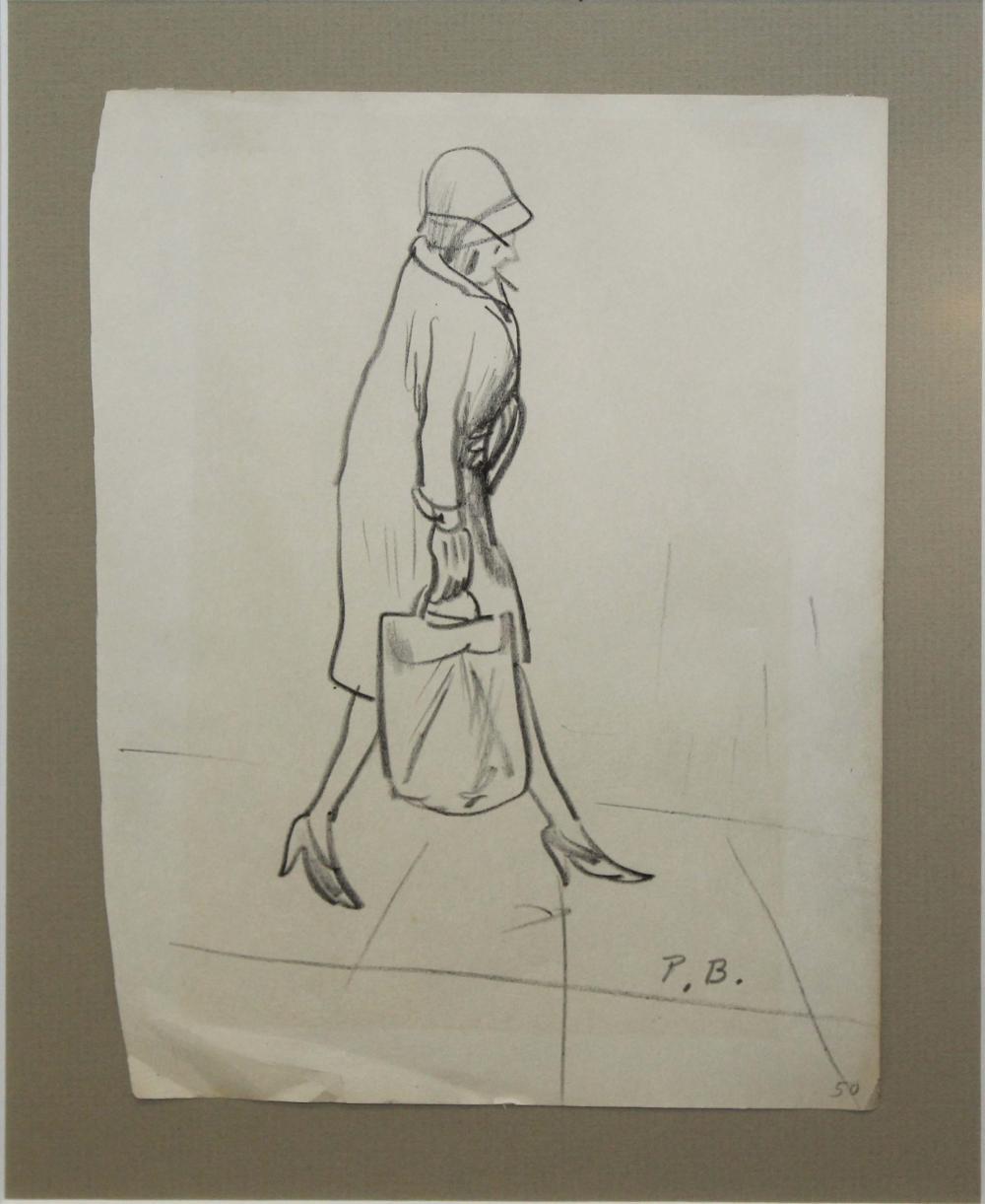 Peggy Bacon (AM 1895-1987) Walking woman
