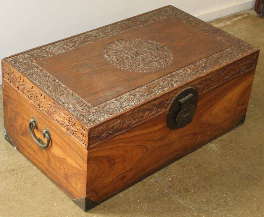 early 20th c camphorwood chest