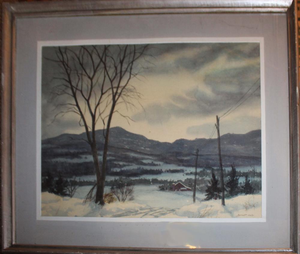 Robert Barrett (VT 20th ) Winter Evening