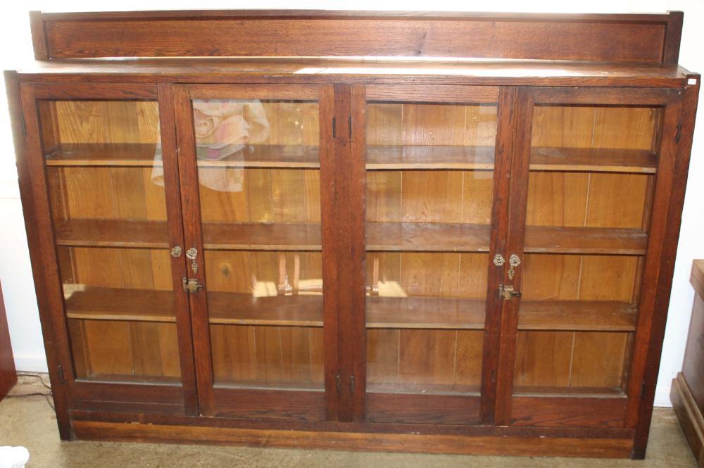 ca 1910 Arts & Crafts era double bookcase