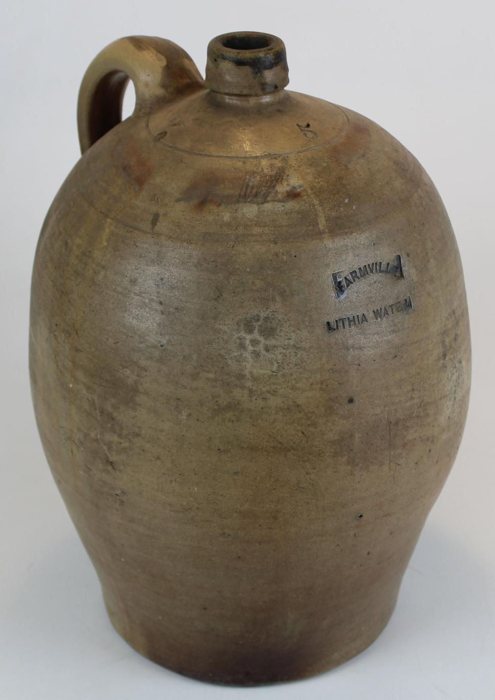 Farmville Lithia Water 5 Gallon Stoneware jug