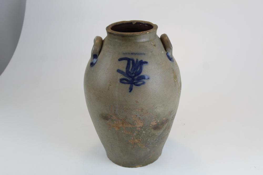 I.B. Farrar and Sons, Fairfax VT , Ovoid Stoneware Crock
