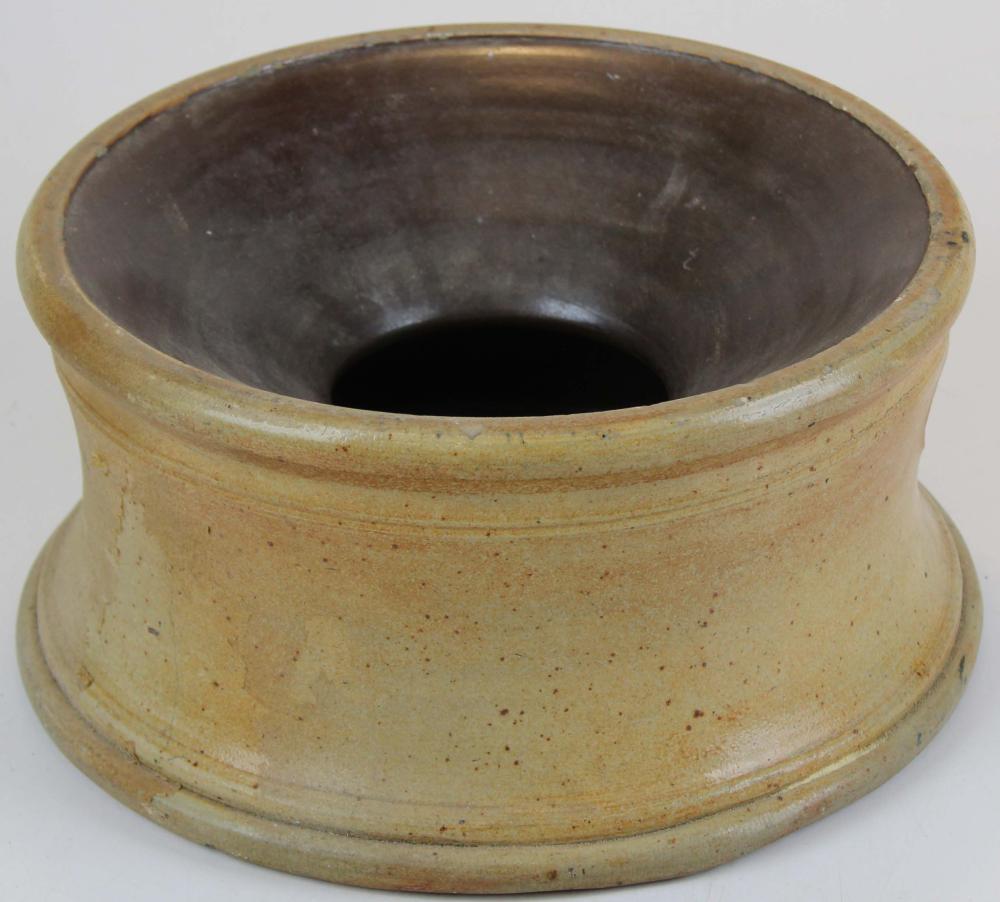 J. Fisher, Lyons, NY Stoneware Spittoon