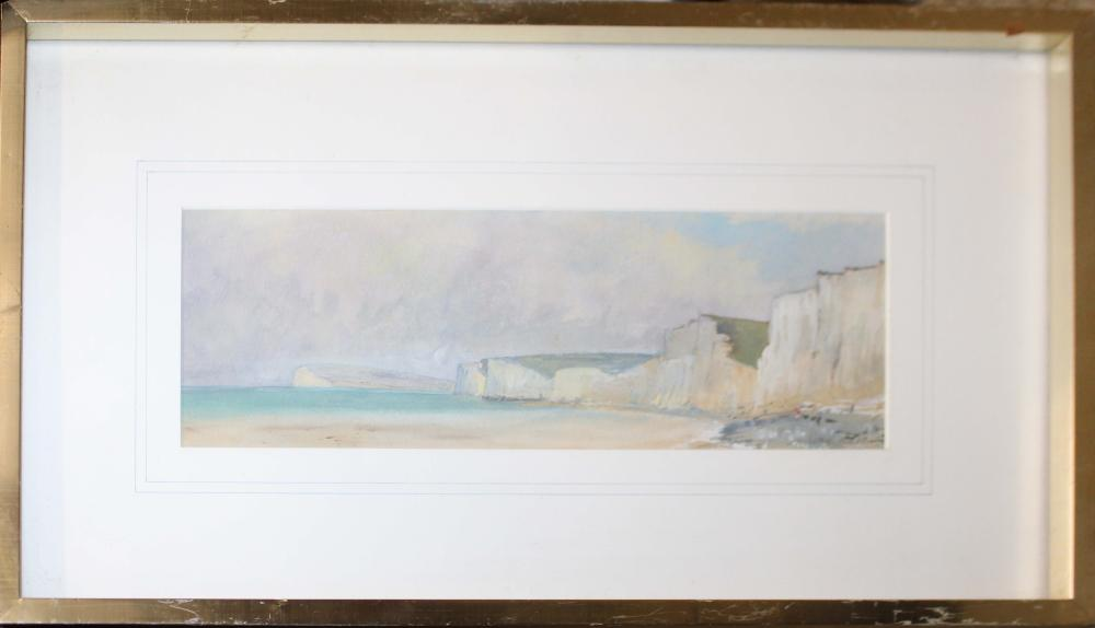 Anthony Kerr (English 20th c ) Cliffs of Dover