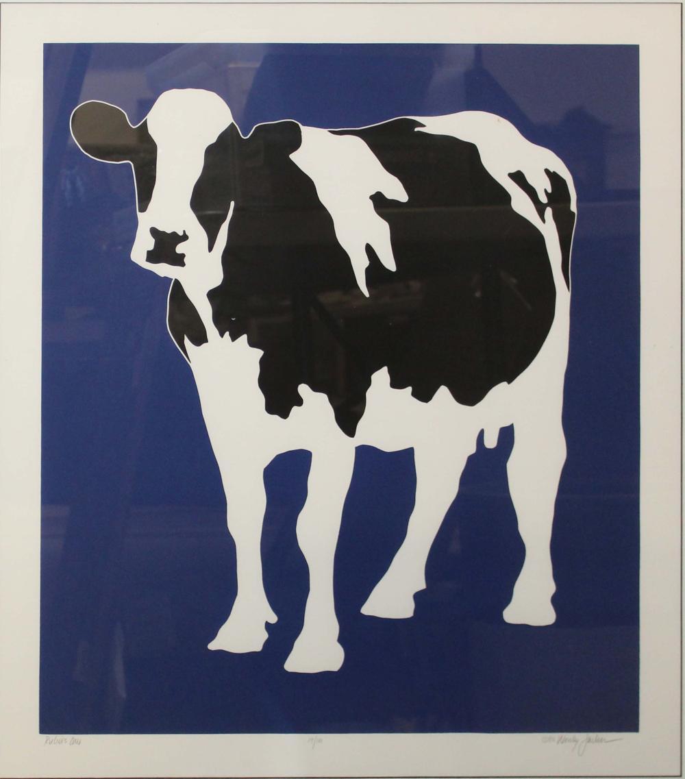 Woody Jackson (VT 20th c) Rubin's Cow