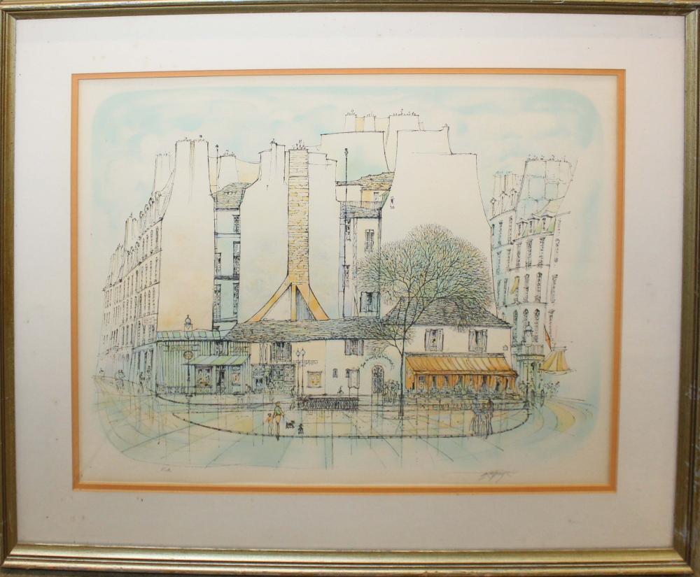 Rolf Rafflewski (DE 1943-) Paris Square