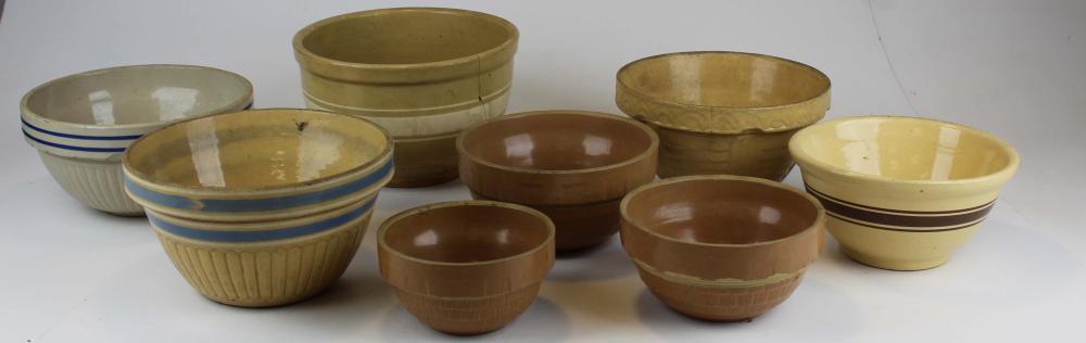 8 Yelloware Bowls