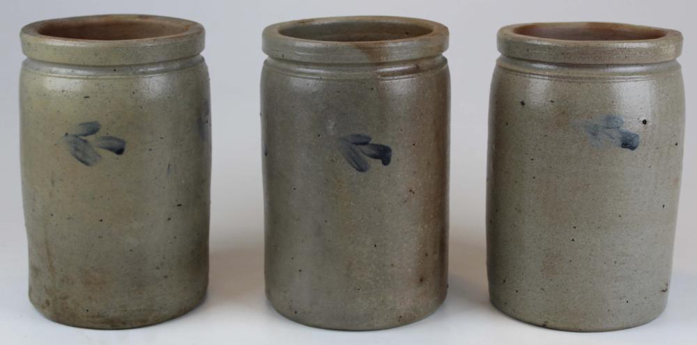 3 Stoneware Preserve Jars