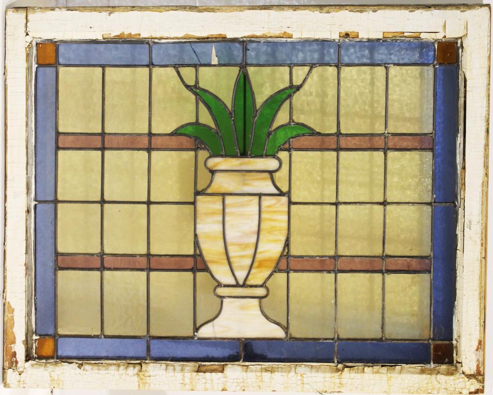 ca 1910 leaded glass window