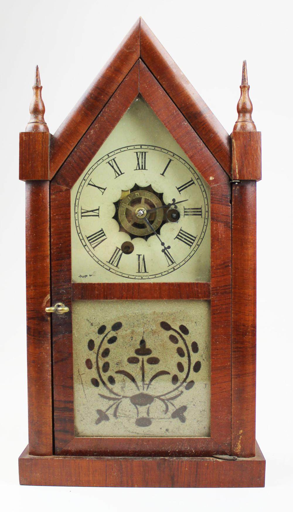 miniature E N Welch steeple clock