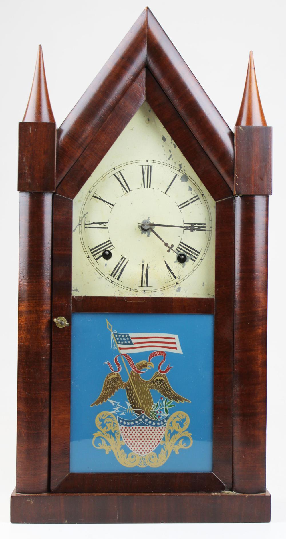 Wm Johnson double fusee steeple clock