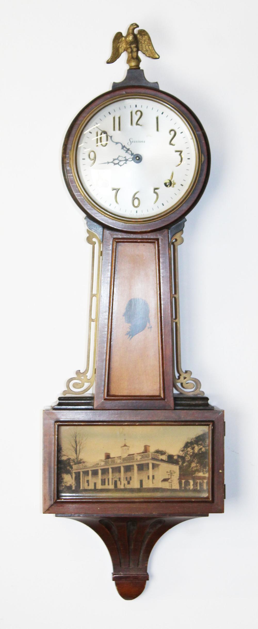 Sessions Mt Vernon banjo clock