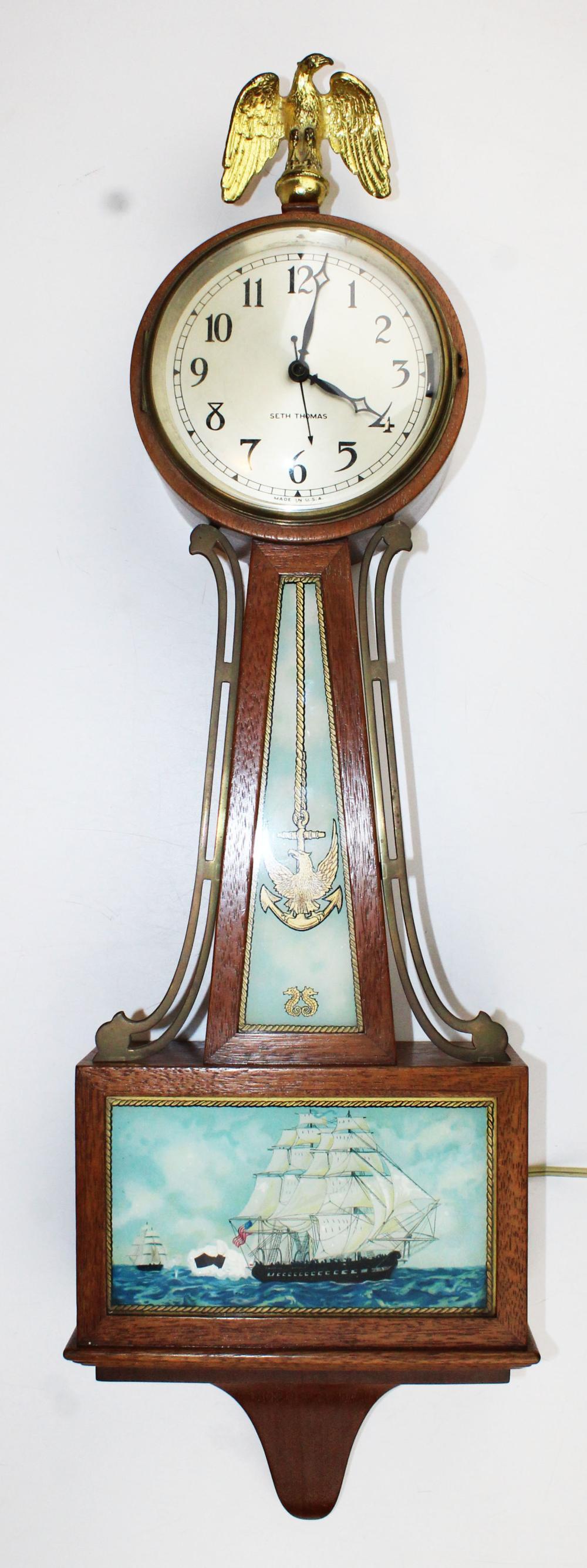 Seth Thomas electric banjo clock