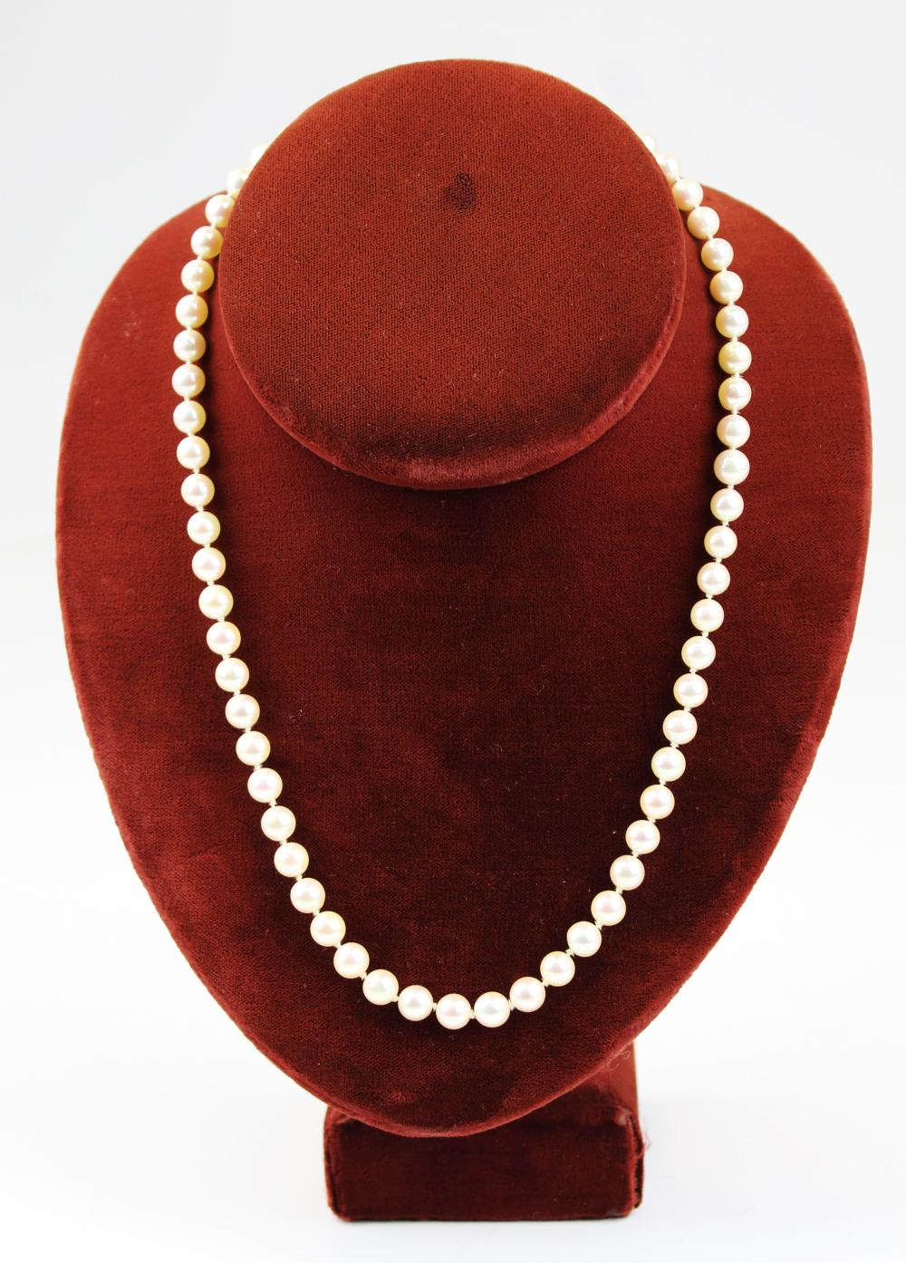Pearl & 14k yellow gold necklace.