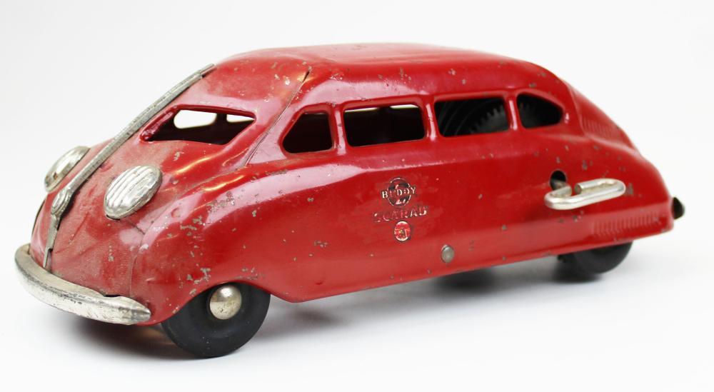 Buddy L Scarab pressed steel wind-up car