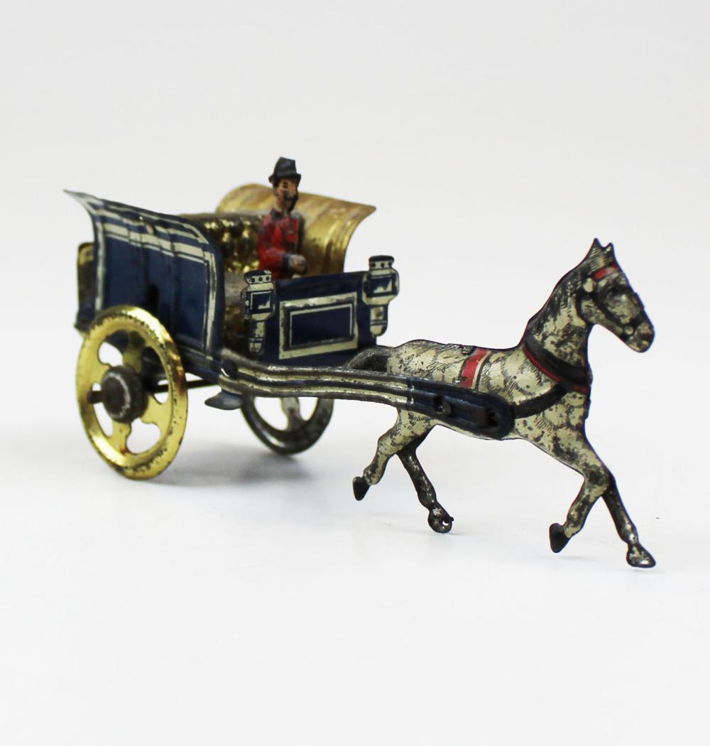 ca 1900 German tin litho penny toy