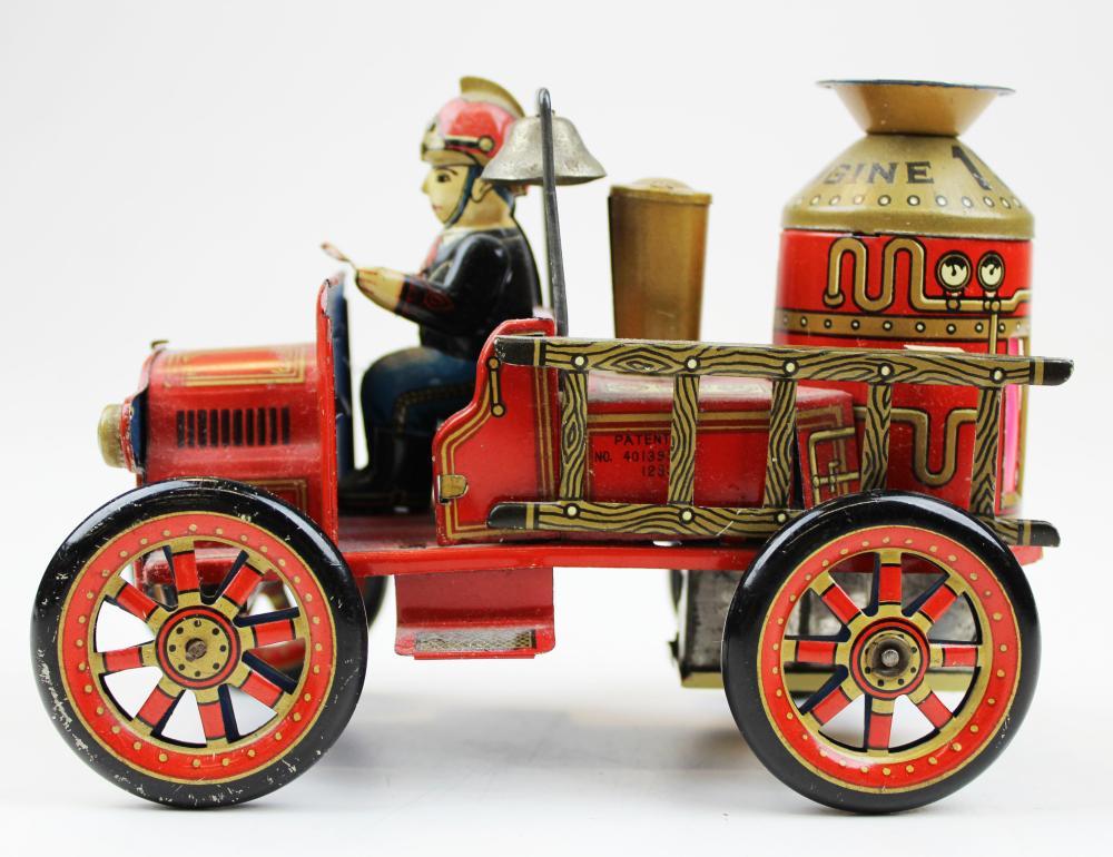 Modern Toys tin litho 1912 fire truck