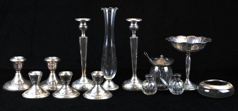 lot of sterling silver tableware