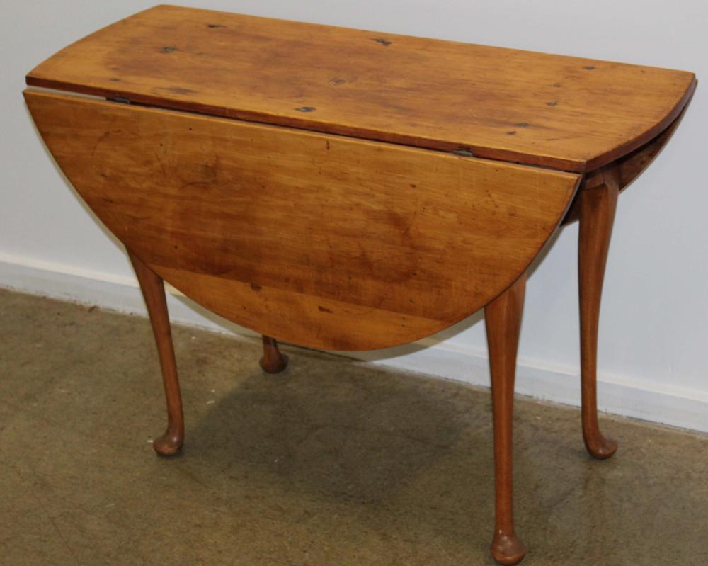 Queen Anne cherry & pine drop leaf table