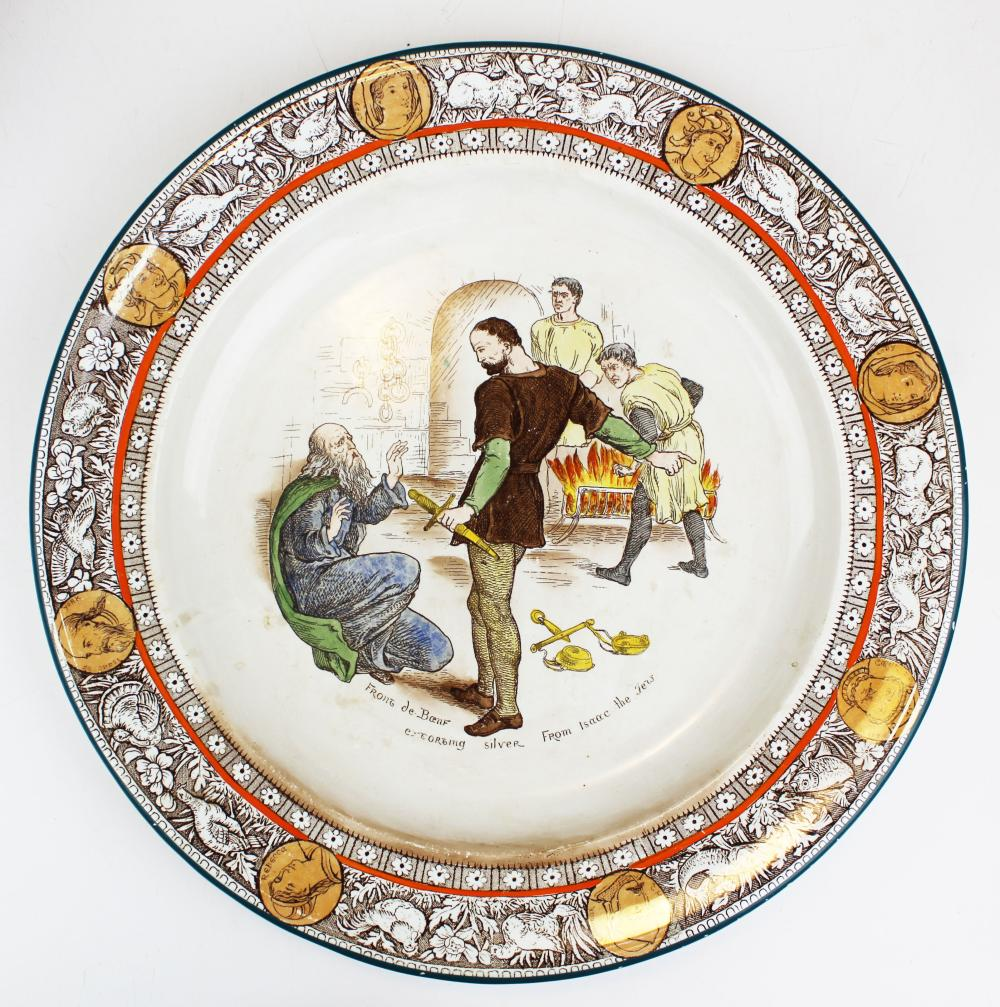 Wedgwood Ivanhoe transfer decorated charger