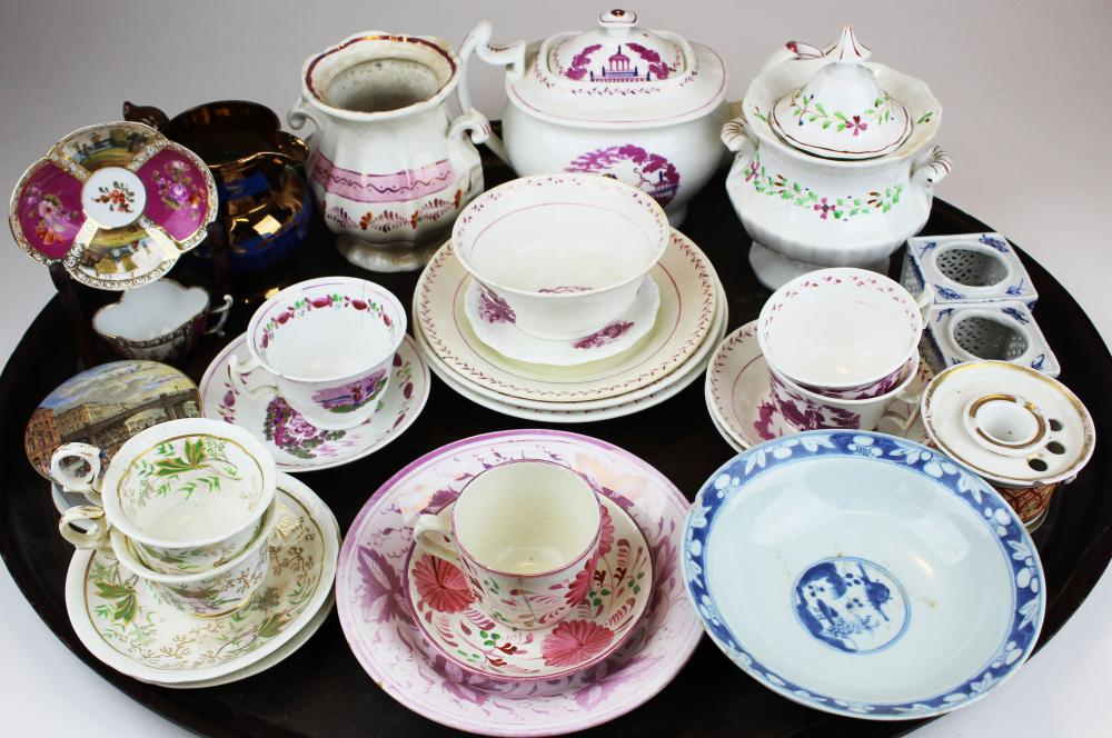 group of early 19th c. porcelain tableware