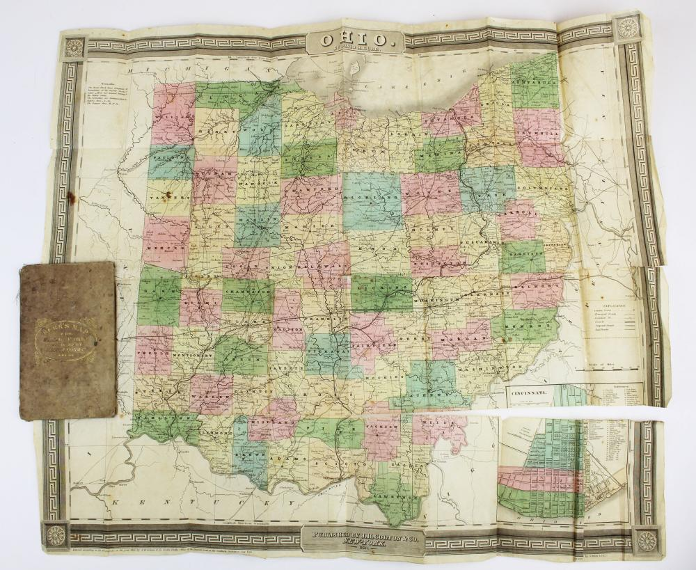 1839 Burr's Map of the State of Ohio