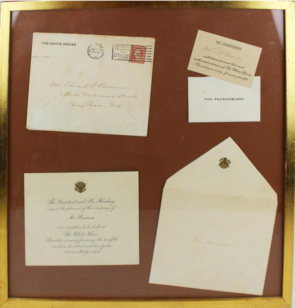 1921 President Harding reception invitation