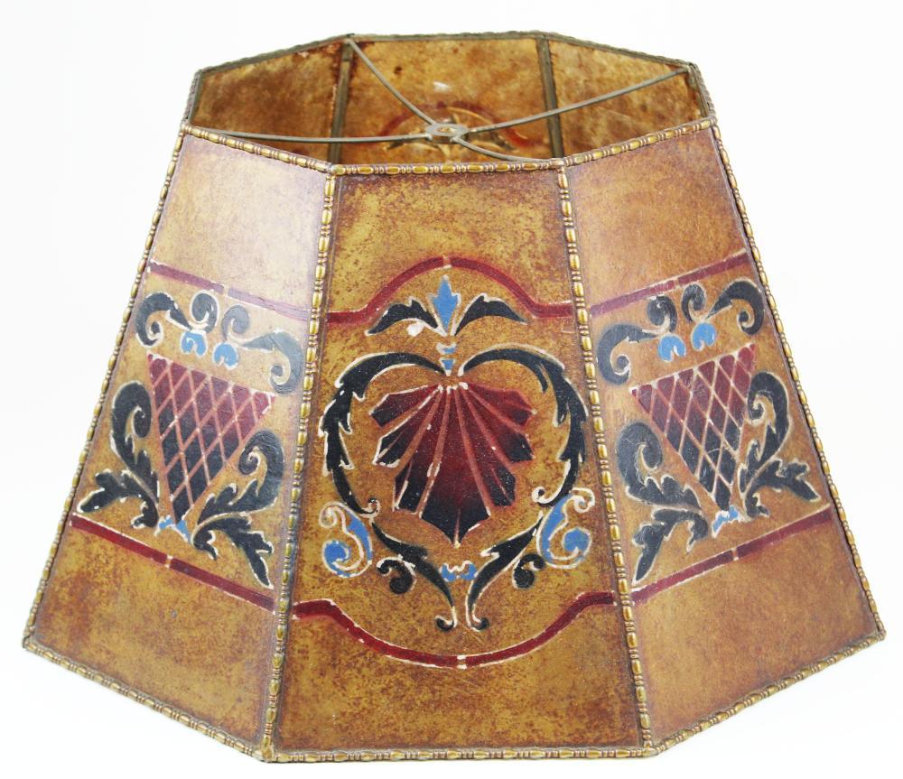Arts & Crafts era mica lamp shade