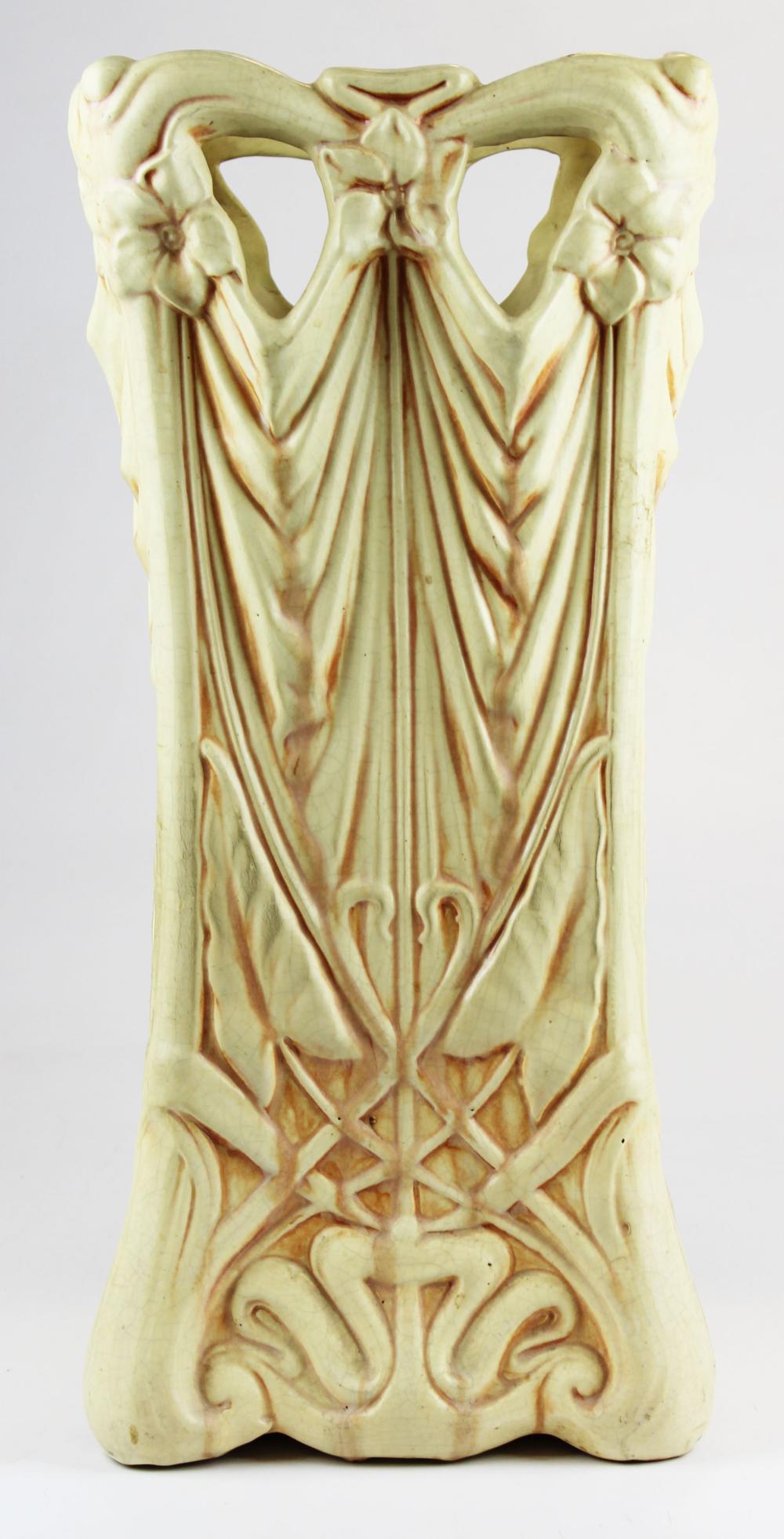 Art Pottery Art Nouveau umbrella stand