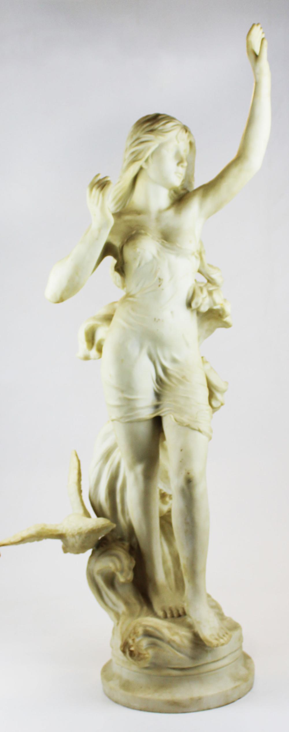 late 20th c decorative Classical resin sculpture