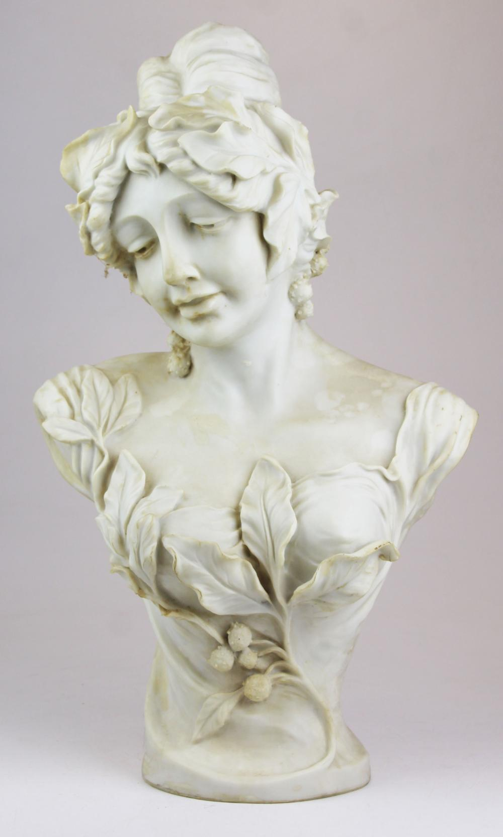 late 20th c decorative Classical resin bust