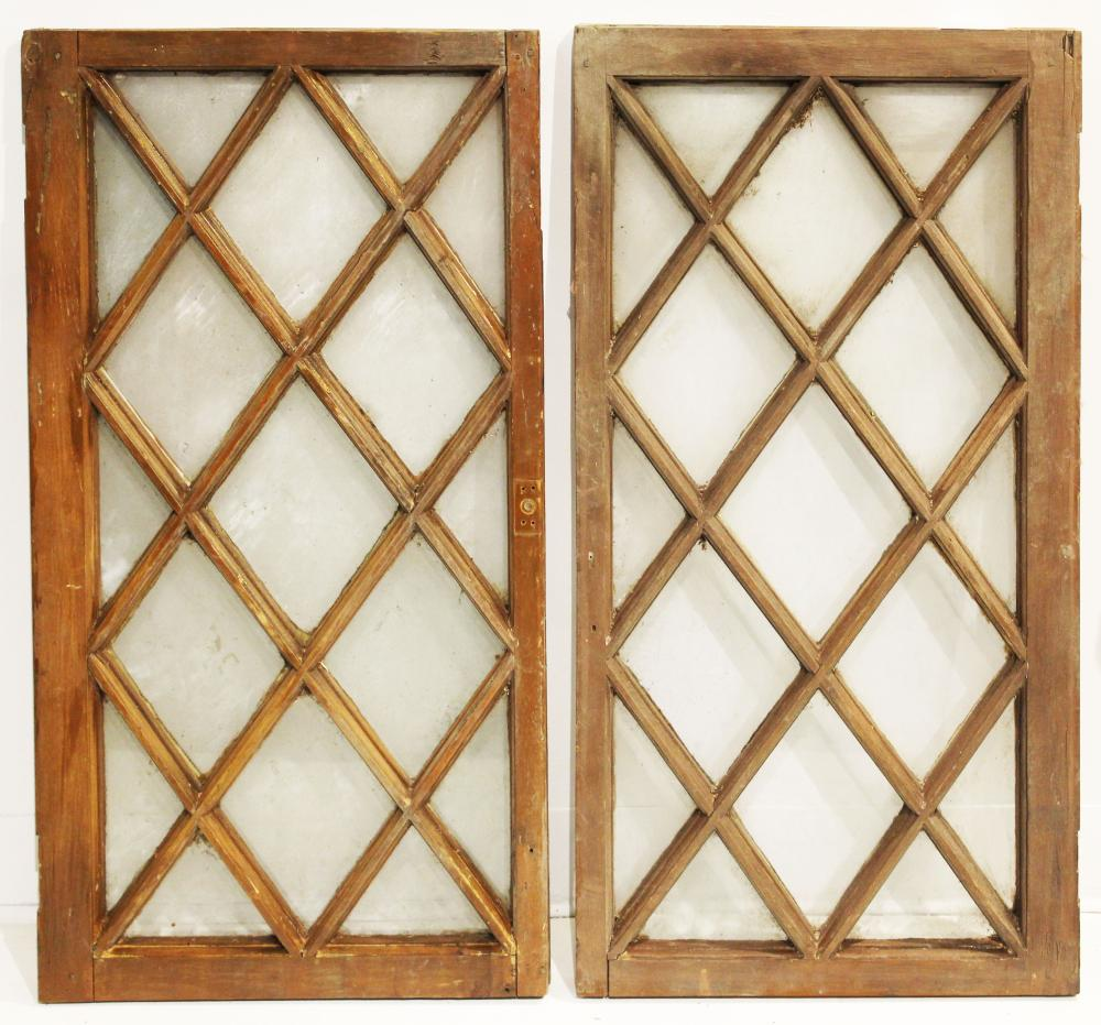 French windows with diagonal muntins