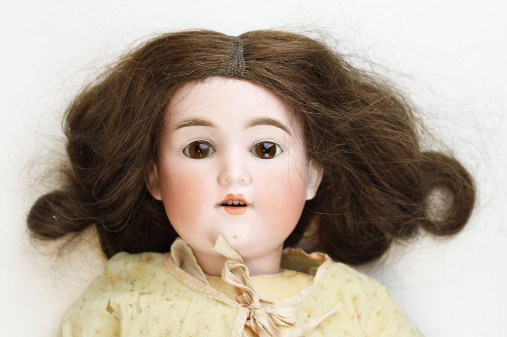 German jointed bisque head doll marked G B