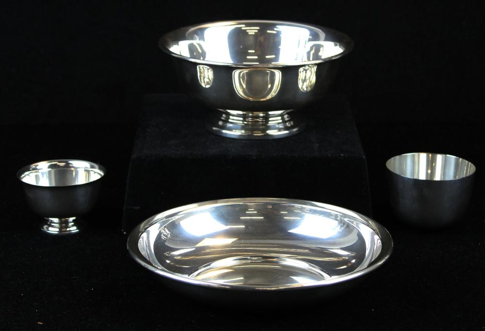 lot of 4 pcs. Sterling silver hollowware