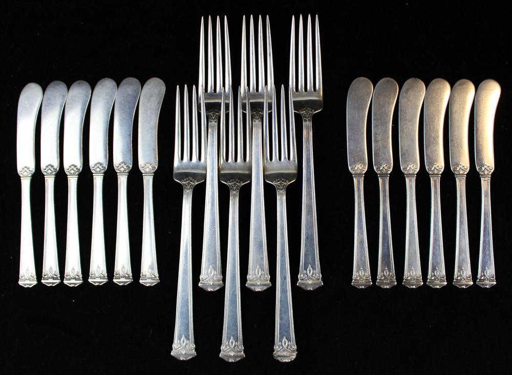 18 pcs. Jennings Silver Co. sterling flatware