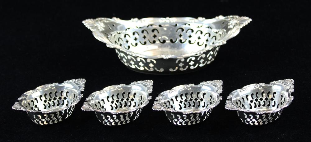 Gorham sterling silver bon bon or nut set
