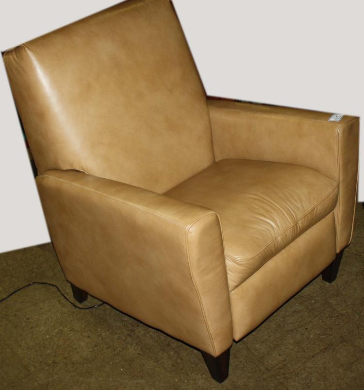 Flexsteel Electric Sofa: Flexsteel Leather Reclining Club Chair