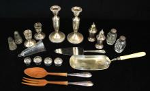 lot of sterling silver tableware pcs