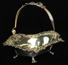 Theo. B. Starr sterling silver footed basket