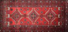 mid 20th c Persian 3 medallion area rug