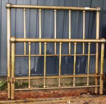 ca 1900 brass double bed