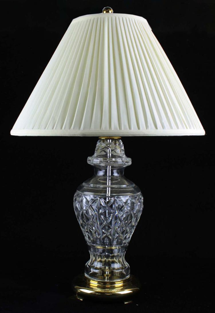 Pr Of Late 20th C Signed Waterford Crystal Table Lamps