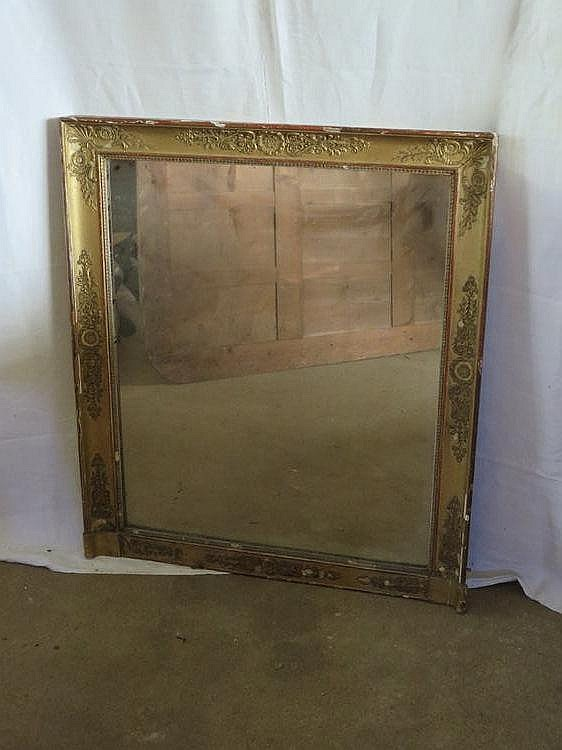 Miroir en bois et stuc dor palmettes epoque restauration for Restauration miroir