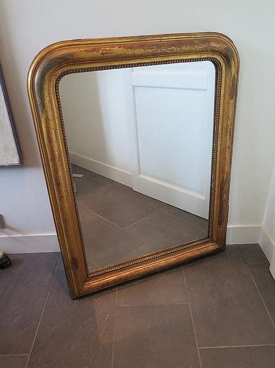 Miroir en bois et stuc dor le haut cintr epoque napol on for Miroir napoleon