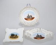 (3)   THREE PIECES PORCELAIN DISHES.C246.