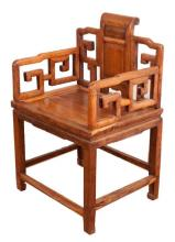 A MING DYNASTY STYLE HUANGHUALI FAUTEUIL (CHAIR).M022.